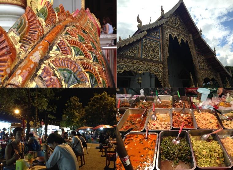 Wat Phra Singh - avondmarkt