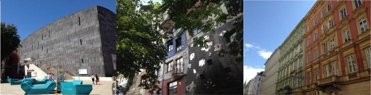Mumok - Hundertwasserhaus - gevels