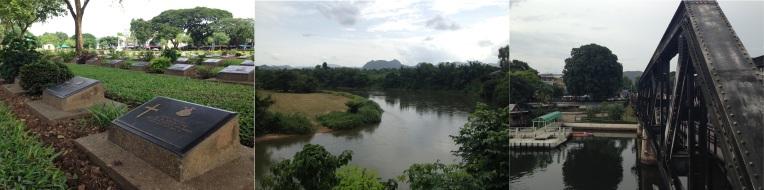 Don Rak begraafplaats - Rivier Kwai - De Brug over de rivier Kwai